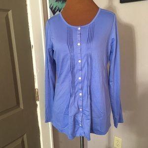 L.L. Bean Tops - L.L. Bean periwinkle cotton blouse